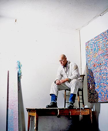 Phil Dobson in his studio